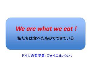 私たちは食べたものでできている!
